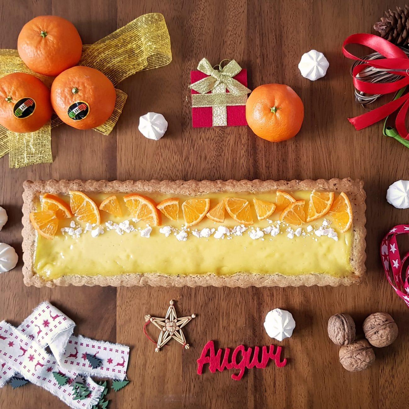 Crostata con crema alle clementine Solarelli
