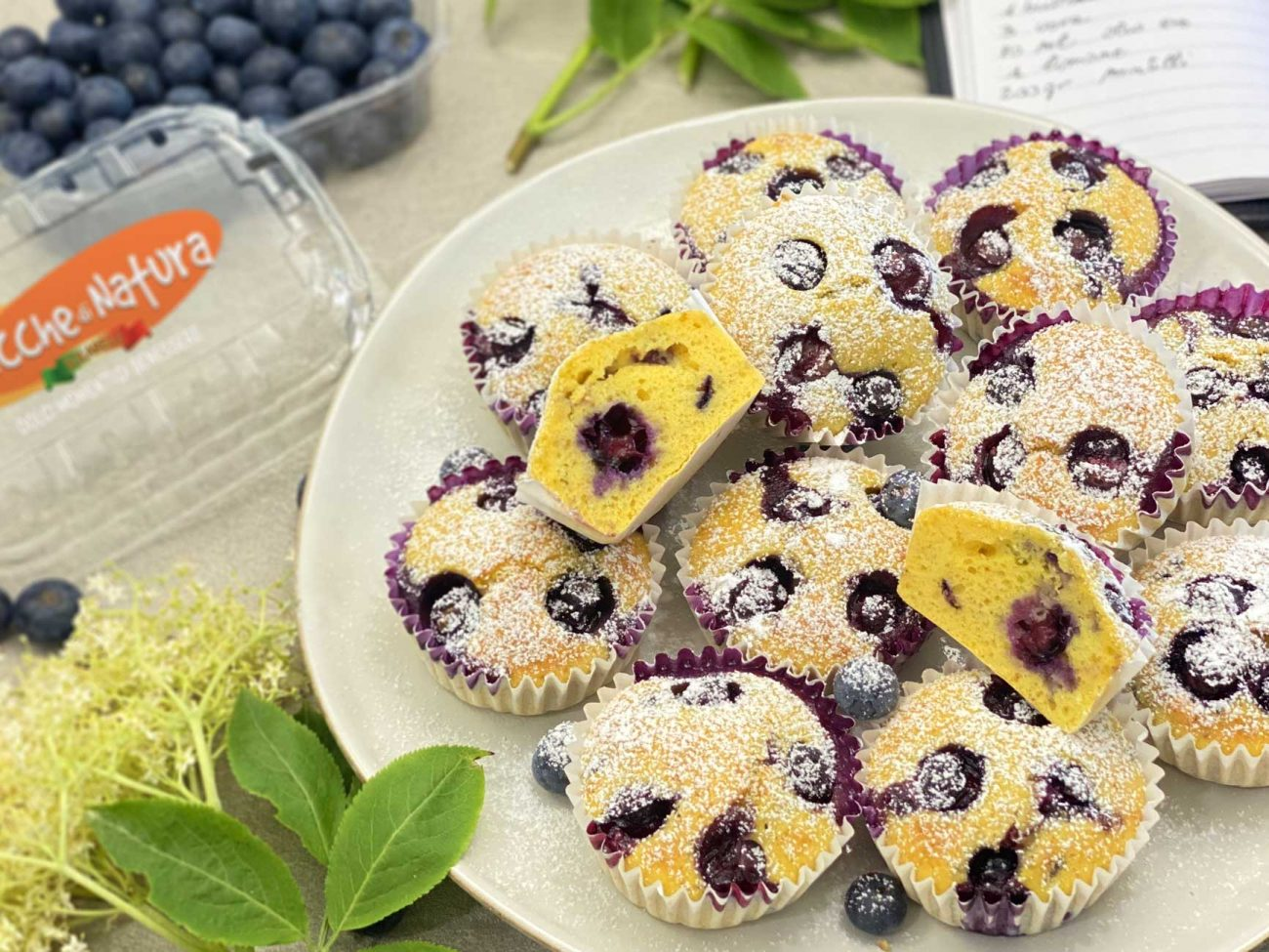 Pop Muffin! I mirtilli Chicche di Natura di Solarelli, colorano la colazione!
